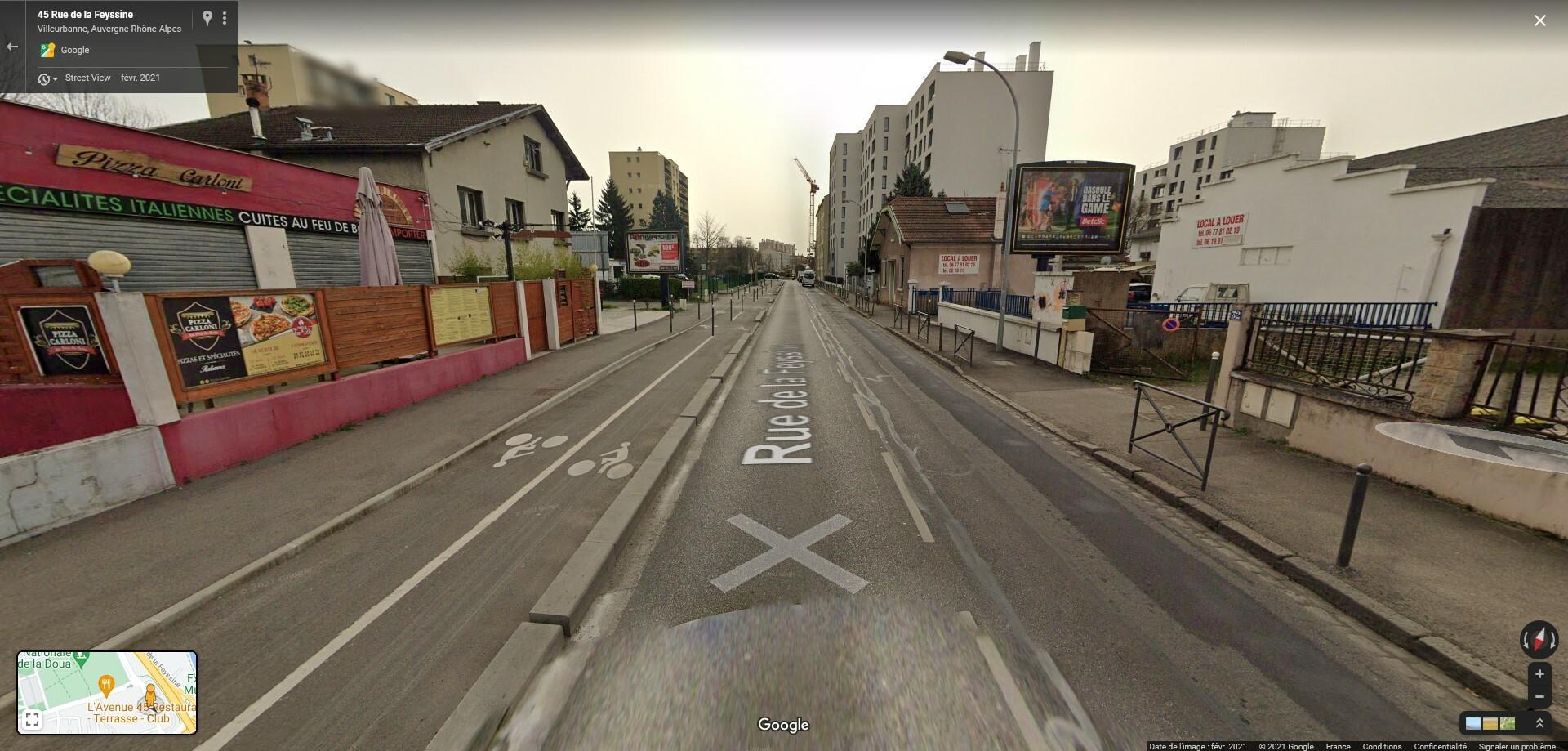 """Questions sur l'aménagement de l'itinéraire """"Feyssine/Einstein"""""""